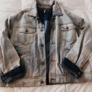 Free people oversized jean jacket, size small
